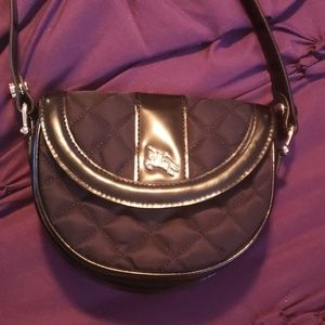 Burberry Quilted Patent Leather mini cross body